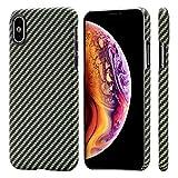 pitaka Magnetische Hülle Kompatibel mit iPhone XS (5,8') MagCase Handyhülle Aramidfaser...
