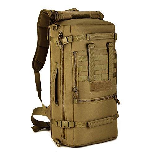 Cinmaul tattico militare molle sistema zaino Assault Pack 3Way Modular attacchi 50L grande impermeabile borsa zaino Outdoor Gear per ciclismo campeggio trekking, Uomo, Desert Camouflage Coyote Brown