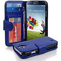 Samsung Galaxy S4 Hülle in BLAU von Cadorabo - Handyhülle mit 3 Kartenfächer Case Cover Schutzhülle Etui Tasche Book Klapp Style in KÖNIGS BLAU