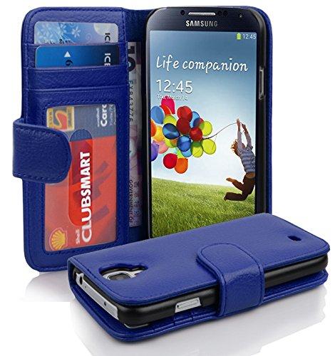 Cadorabo - Book Style Hülle für Samsung Galaxy S4 (I9500) - Case Cover Schutzhülle Etui mit 3 Kartenfächern in NEPTUN-BLAU