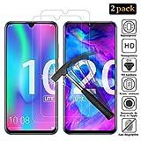 ANEWSIR [2 Pièces] Verre Trempé pour Huawei Honor 10 Lite/Huawei Honor 20 Lite, Protection d'écran pour Huawei Honor 10 Lite/Huawei Honor 20 Lite, 9H Dureté, Installation Simple sans Bulles