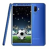 Smartphone Unlocked Leagoo M9-5.5inch 18:9 Touch Screen�3G Dual SIM Mobile Phone, Quad Camera Front 5MP+2MP Rear 8MP+2MP, RAM 2G + ROM 16GB, Perfect Sound Quality Dual SIM Phone, Blue