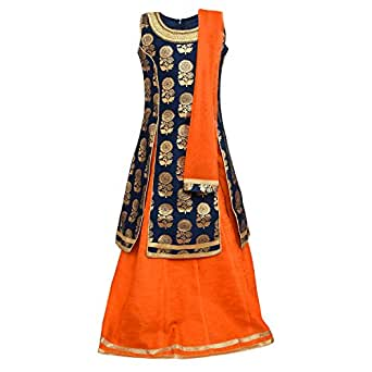 ADIVA Girls Party Wear Lehenga Choli for Kids (G_1014_BLUE_24)