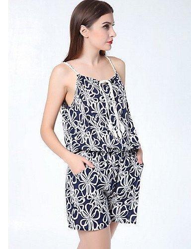 GSP-Combinaison ( Polyester ) Informel/Imprimé Courroies à Sans manche pour Femme s-blue