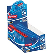 Tipp-Ex Pocket Mouse Korrekturroller mit Bandschutzkappe / Korrekturband 10m x 4,2mm / 10er Pack