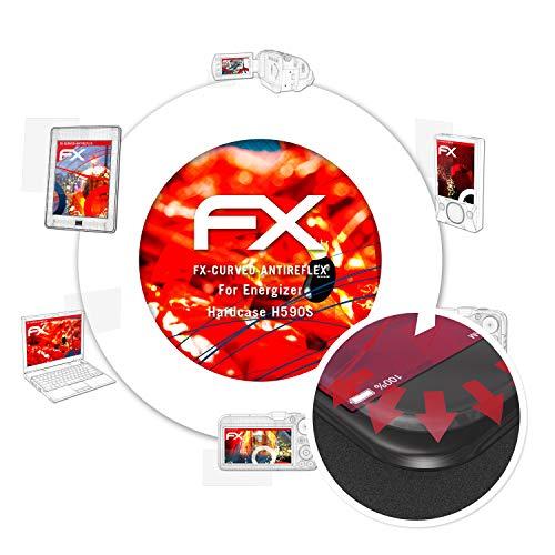 atFolix Schutzfolie passend für Energizer Hardcase H590S Folie, entspiegelnde und Flexible FX Displayschutzfolie (3X)