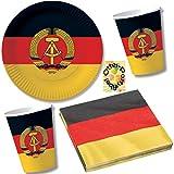 HHO Nostalgie Ostalgie DDR Party-Set 60tlg. für 20 Gäste : Teller Becher Servietten