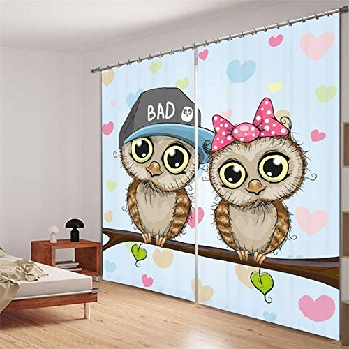 Shi18sport Weihnachten Tür Vorhänge Raum Verdunkelung Vorhänge 3D Cartoon Gedruckt Kinder Fenster Dekor Vorhänge Für Kinder Schlafzimmer Wohnzimmer, W180Cm H220Cm