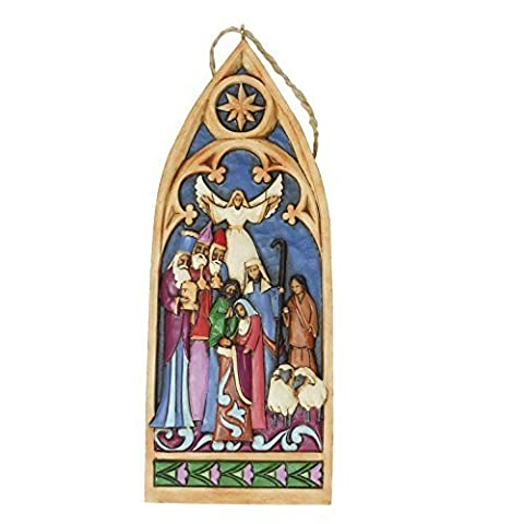 Enesco Jim Shore Heartwood Creek - Cathedral Window Nativity - 4044106 - New by Jim Shore