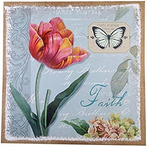 GYN Creativo Retro continentale Nostalgia Tulip farfalla appendere quadri murale