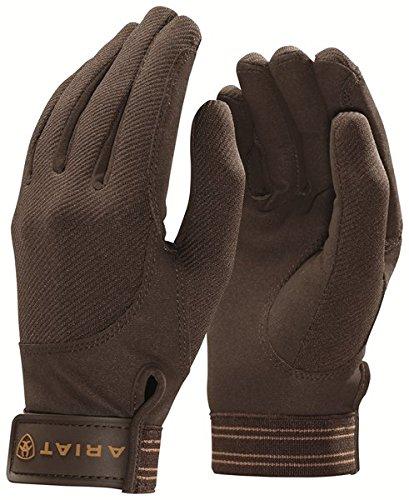 Ariat TEK Grip Reit Handschuhe, 7, dunkelbraun (Tek Handschuhe Grip)