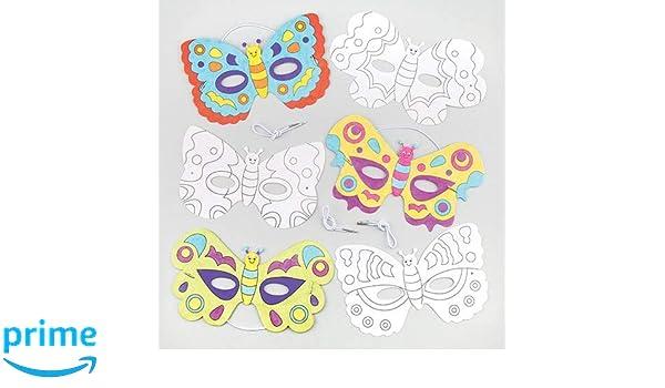 Baker Ross Maschere Da Farfalla Da Colorare Ottime Per Carnevale