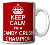 Tasse 'keep calm i'm a candy crush champion' rétro
