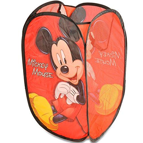 Superdiver Cestino Pieghevole con Manici Pop Up Disney Topolino Mickey Mouse Poliestere Blu 36 x 36 x 58 Centimetri
