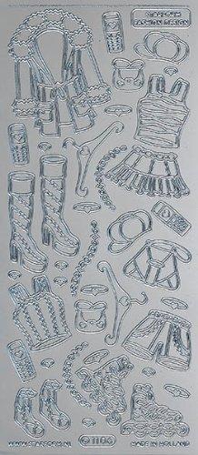 Unbekannt Starform Peel Off Motiv-Sticker 0749 silber Damenkleider 1