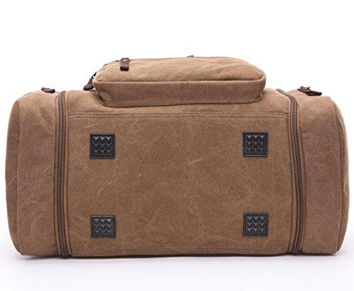 BAOSHA HB-21 Unisex Canvas Sporttasche Reisetasche Großräumige Handtasche Schultertasch Handgepäck Weekender Tasche Vintage Segeltuch Sporttasche für Reise (Grau) Blau