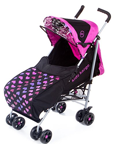 kidz kargo Citi Elite Single Pushchair for New-Born or Toddler Up to 22.5 kg (Magenta Pink)