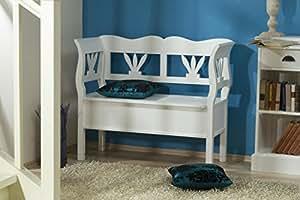 sitzbank truhe flur wei odette k che haushalt. Black Bedroom Furniture Sets. Home Design Ideas