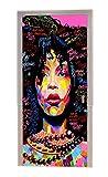 A.Monamour Pegatinas De Pared Agua Coloreada Afroamericana Mujer Niña Pelo Afro Impresión Abstracta Vinilo Habitación Calcomanías Papel Tapiz Murales De Pared Puerta Calcomanías Carteles Decoraciones