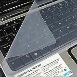 niceeshop(TM) Durchsitig Weiß Allgemein Silikon Tastatur Schutz Haut Abdeckung für 14 Zoll Laptop Notebook