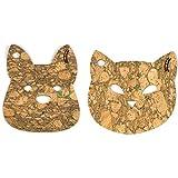 Elena Kihlman Korkki Lot de 2 Dessous de Plat Cat and Dog, en liège, Couleur pétrole, 22cm