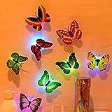 Papillon lumières, clignotant coloré 3d Papillon Stickers muraux pour fille Chambre …