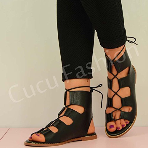 Cucu Fashion , Bride de cheville femme Noir - noir