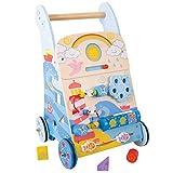 Bigjigs Toys Maritimer Spiel- und Laufwagen