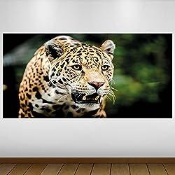 EXTRA GRANDE Vinilo Fauna Leopardo marrón Póster - Mural Decoración - etiqueta de la pared -140cm x 70cm