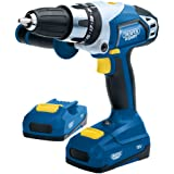 Draper Expert 03286 18-Volt Li-Ion Cordless Combination Hammer Drill with 2 Li-Ion Batteries