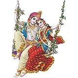 OFIXO Wall God Stickers for Home Radha Krishna Jhula Swari Modern Wall Sticker for Room 50x70 cm (ART-98)