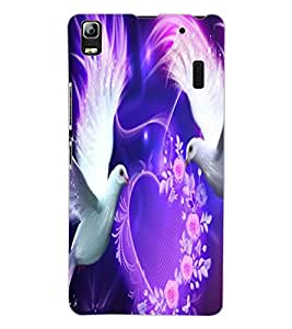 ColourCraft Lovely Pigeons Design Back Case Cover for LENOVO K3 NOTE