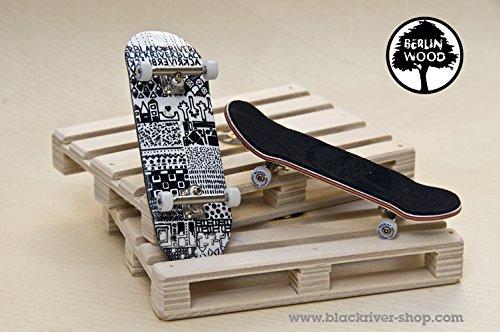 "Professionelles Fingerboard Komplett Set Berlinwood \""EV Mini Pattern\"""