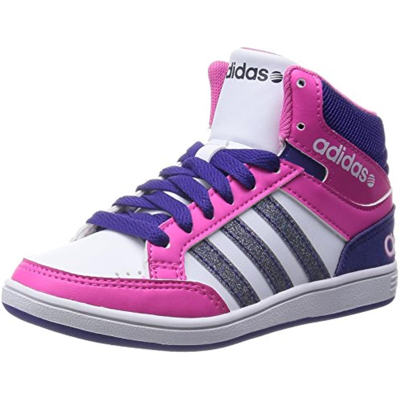 Adidas - Hoops Mid K - Couleur: Blanc-Rose-Violet - - Pointure: 38.6 - B00RYGMX9Y - Blanc-Rose-Violet 4bed33
