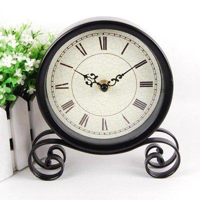 ZHUNSHI Continental Uhren Wecker Wohnzimmer Bügeleisen Jugendstil Desktop Clock Stylish und Einfach...