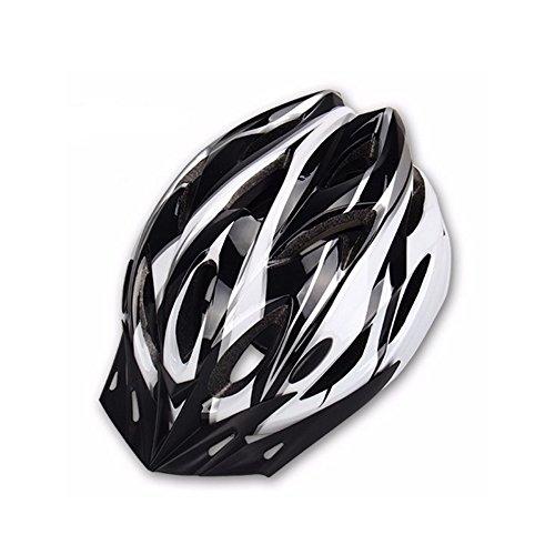 Hoovo Casco da bicicletta con regolabile leggero mountain bike Racing Breezier casco per uomini e donne (Bianca)