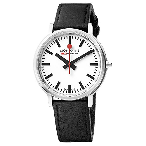 Mondaine Unisex-Adult Quartz Watch, Analogue Classic Display and Leather Strap MST.4101B.LB