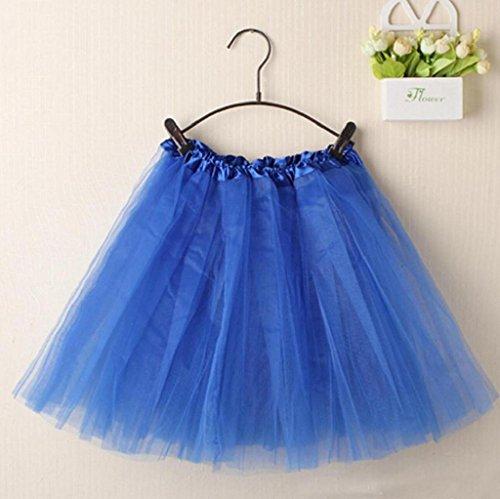 Vovotrade® Mode Femmes Ballet Tutu Layered Organza Dentelle mini Jupe Bleu