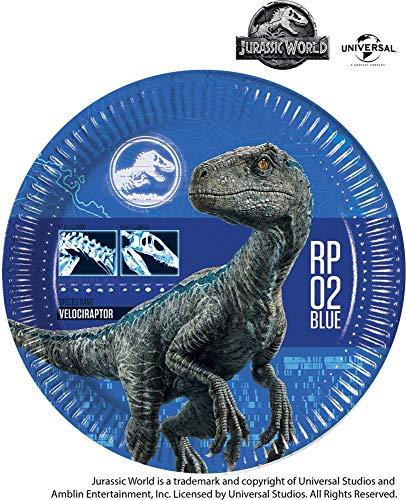 Disney Jurassic World Fallen Kingdom Pappteller, 8 Stück