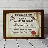 Regalo personalizable para tu esposo: diploma pergamino 'al mejor marido del mundo'...