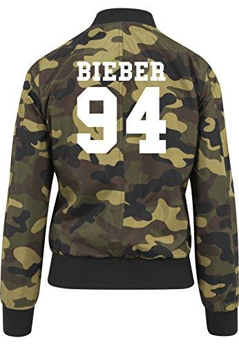 Bieber 94 Bomberjacke Girls Camouflage Certified Freak-M