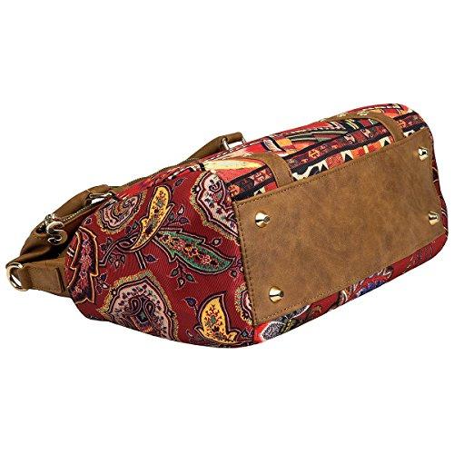 Desigual BOLS Loverty Boho Handtasche 33 cm Marron