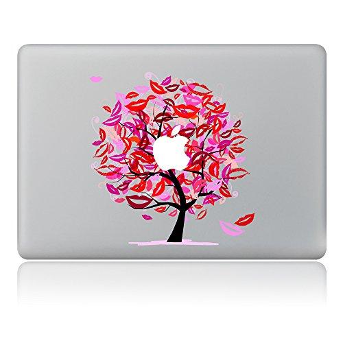 Cinlla Lippen Baum Katze Laptop Aufkleber Notebook Schutzfolie Haut aus Vinyl Skin Sticker Decal für Apple MacBook Pro 15