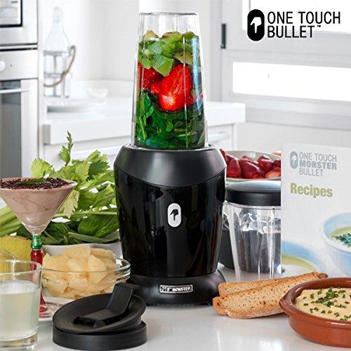appetitissime One Touch Monster Bullet���Frullatore in vaso con recetario e accessori, 1200�W