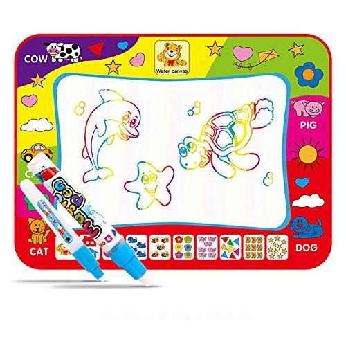 Sunbeter Doodle Mat, Tapis de Dessin de Doodle pour Enfants Pliable Tapis de Dessin Magique de l'eau avec 2 stylos de Peinture Doodle pour la Peinture - 31.5 * 23.6 Pouces