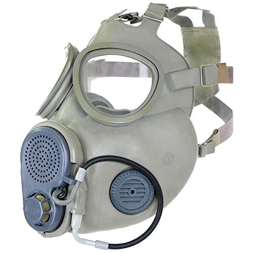 tzmaske ( integrierte Backenfilter + Trinkschlauch !!! ) mit Tasche und Zubehör Gasmaske NVA DDR CCCP CZ Offizier Größe 3 (Gute Abc Kostüme)