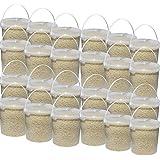 24 x3,5kg Eimer Erdnusskerne weiss blanchiert gehackt Erdnüsse Bruch Vogelfutter