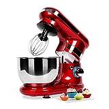 Klarstein TK18-Serena Rossa Küchenmaschine 600 W, rot