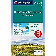 Holsteinische Schweiz, Fehmarn: 2 Wanderkarten 1:40000 im Set inklusive Karte zur offline Verwendung in der KOMPASS-App. Fahrradfahren. Reiten. (KOMPASS-Wanderkarten, Band 740)