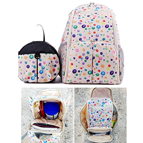 Zhhlaixing 2x Multi-function Mummy Baby Shoulder Sac Diaper Nappy Backpack Changing Handbag Multicolore